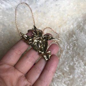Betsey Johnson Jewelry - Betsey Johnson hummingbird Necklace / pin